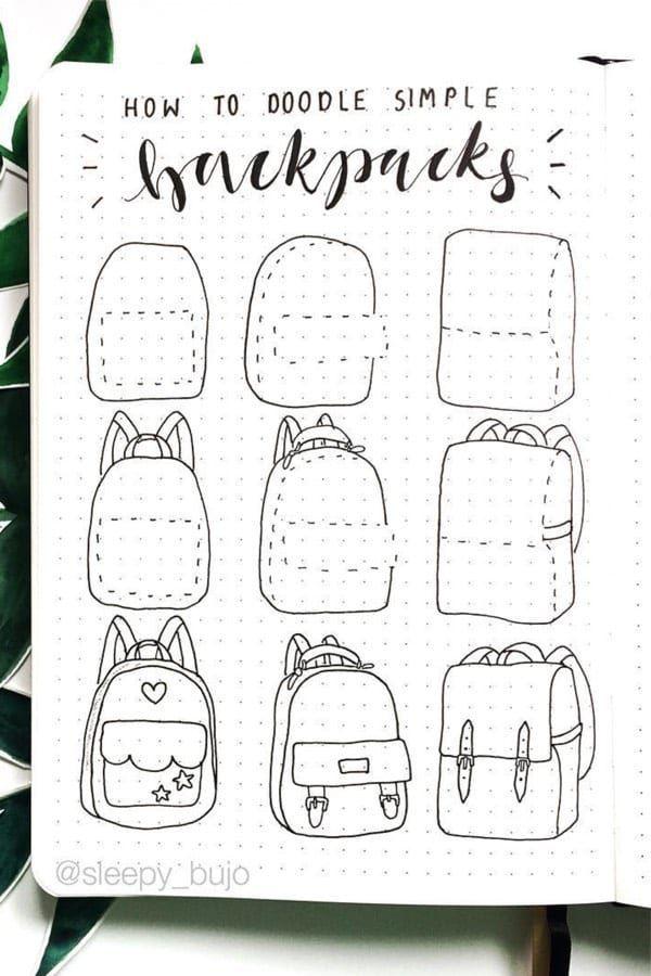 Schritt für Schritt Bullet Journal Doodle Tutorials Vol.1   – drawing – #Bullet #Doodle #Drawing #für #journal