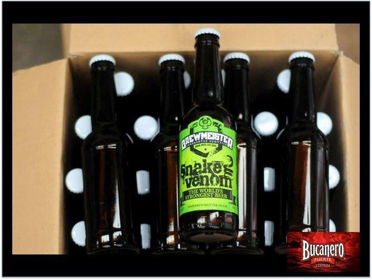 CERVEZA BUCANERO.¿Sabes cuál es la cerveza con más grados de alcohol? La cerveza Escocesa Brewmeister Snake Venom con 65.5º de alcohol, también, con 65º la cerveza Brewmeister Armagedon, también escocesa, seguidas por la cerveza Holandesa Koelschip start the Future con 60º, el cuarto lugar lo tiene la cerveza Alemana Schorshbrau Shorschbock 57 º.www.cervezasdecuba.com