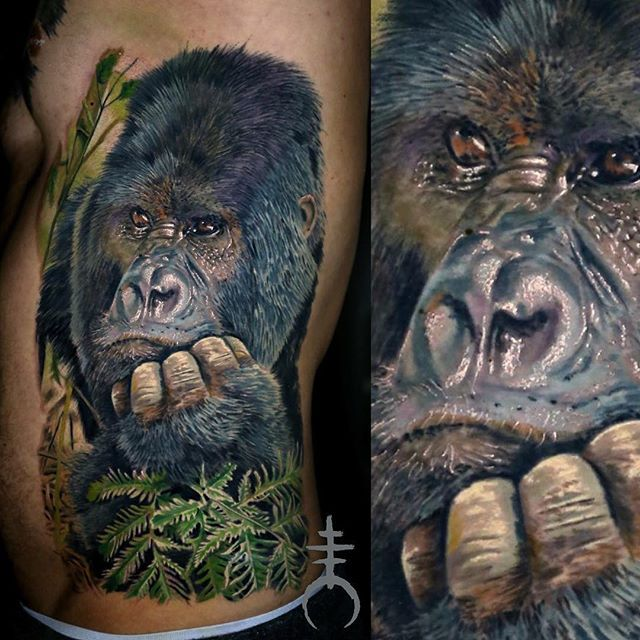 lots of fun. done with fkirons halo2 #gorilla #portrait #monkey #gorillatattoo #dicksoutforharambe #fkirons #ink #tattooist #tattoo  #tattooed #tattoofreakz #tattoolife#tattoocommunity #tattooistartmag #harambe #tattoo_worldwide_online #germantattoers #morioccultum#realistic#instagood #tbt  #photooftheday #color#inkedmag  #tattoorevuemag  #elmori #elmoritattoo #germantattooers #intenzeink #eternalink