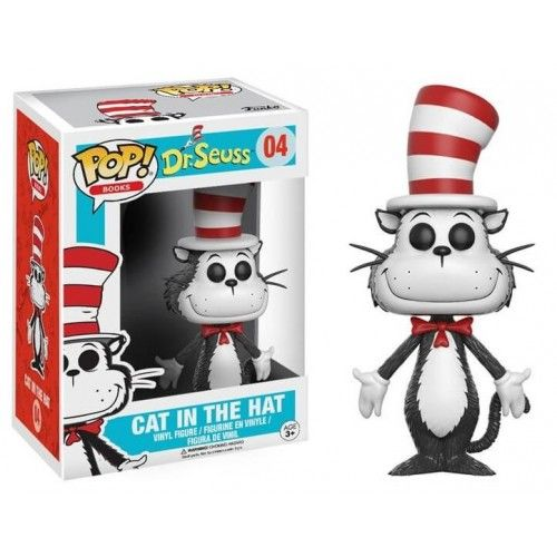 Funko Pop! Cat in the Hat, O Gato de Chapéu, Dr. Seuss, Cartoon, Funkomania, Books, Livros