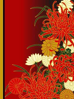 Japanese chrysanthemum pattern