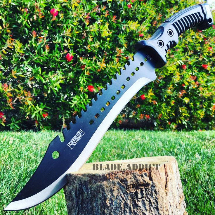"""Great Tactical Design And Very Sharp! 440 Stainless Steel Blade. Blade Length 9.5"""" inches. Ready For Any Outdoor Activity! Overall Length 15.5"""" inches. Comfortable Rubber Handle."""