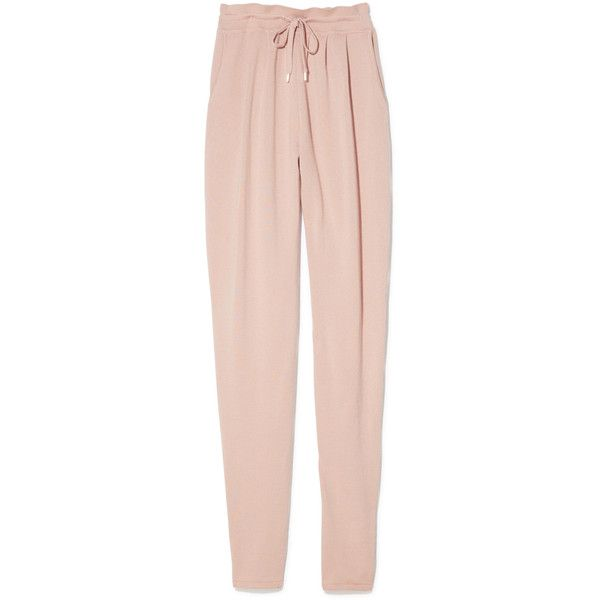 Travel Pants ❤ liked on Polyvore featuring pants, travel pants, travel trousers, tapered pants, tapered trousers and pink trousers