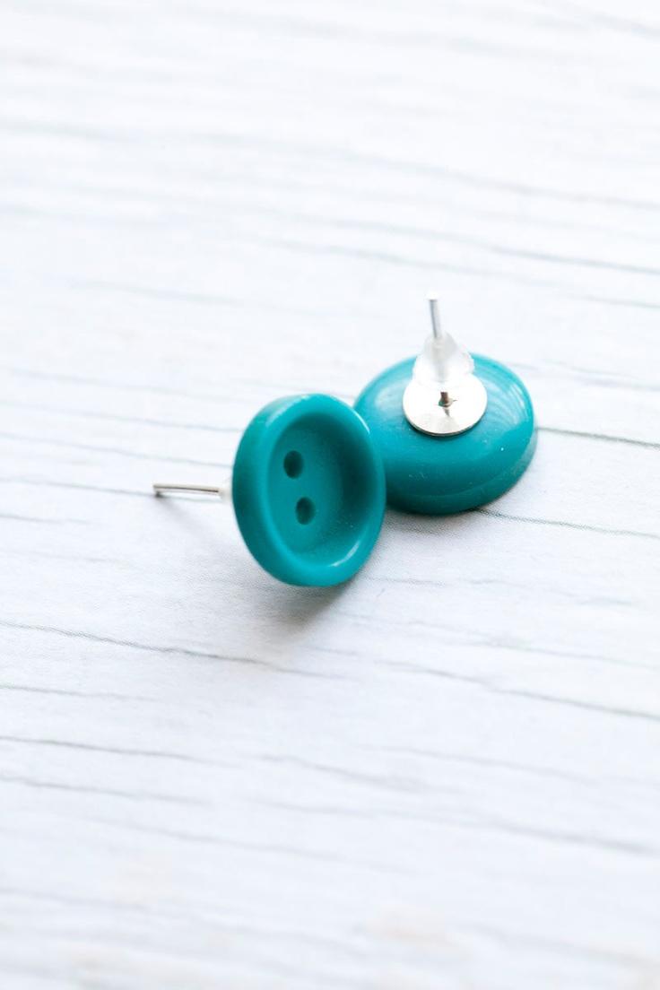 boucles d'oreilles bouton ! ☻♥