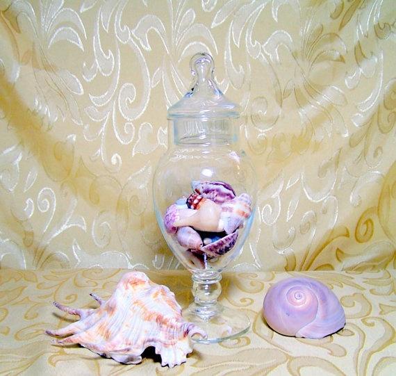 Vintage Pedestal Apothecary Jar Bathroom Vanity Storage Decor