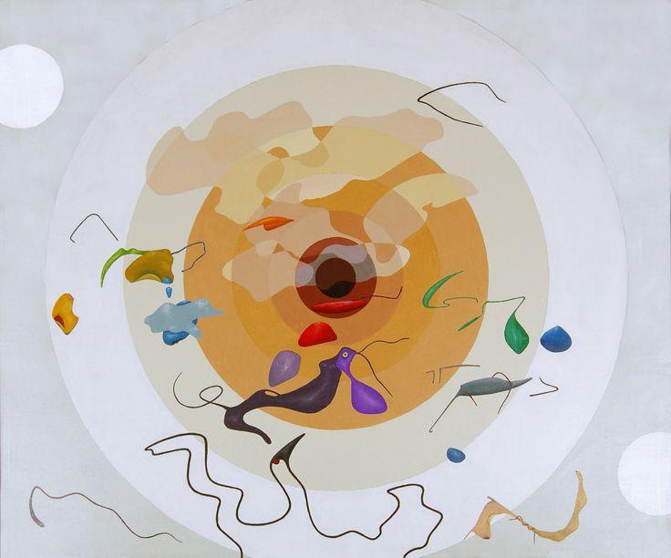 """""""Concentric dreams"""" acrilici su tela, cm 100x120, 2009"""