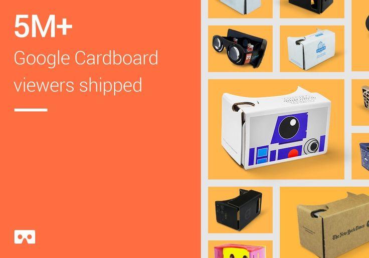 #Google vendió más de 5 millones de #Cardboard, su visor de #realidad #virtual