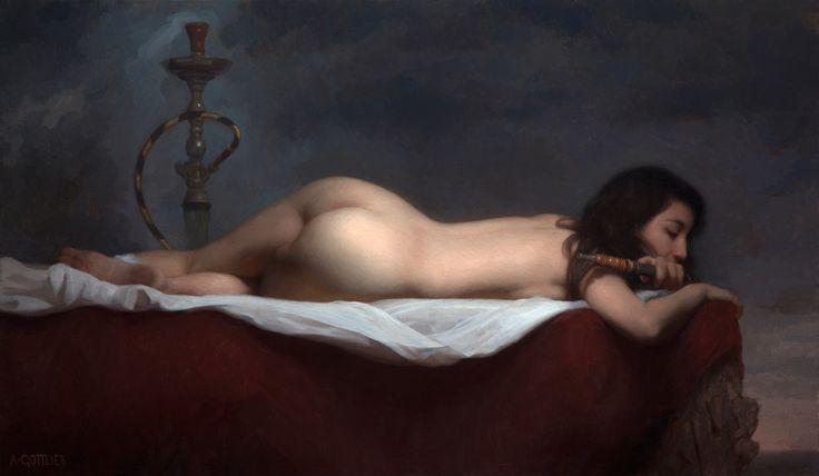 Adrian Gottlieb Flight  Oil on Canvas  43 x 25 inches