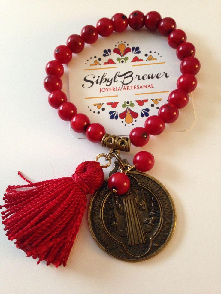 Red Coral and San Benito. Sibyl Brewer Joyeria Artesanal
