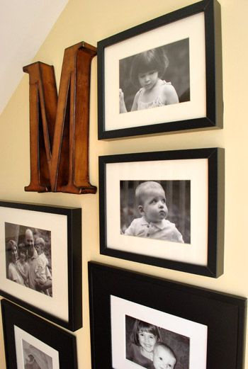 Very into letters and picture frame collages.