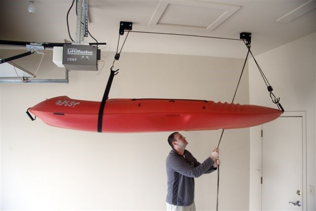 Inno Roof Rack >> Overhead Ceiling Kayak storage NYC. Easy to use, Holds 100lbs. Free delivery, stocked at Bike ...