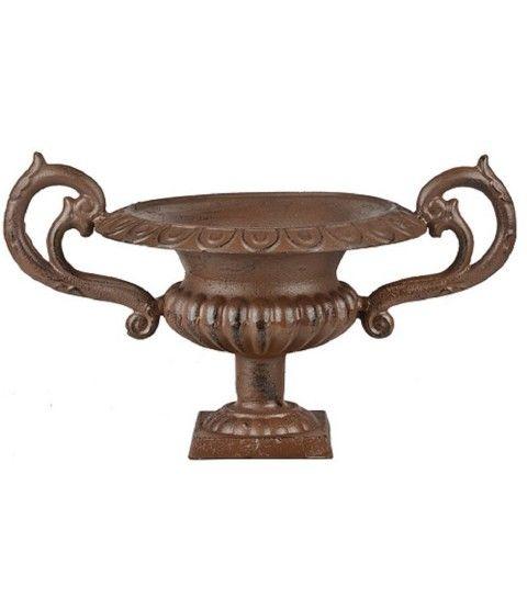 Esschert XH72 Französische Vase niedrig mit Griffen (M) Pflanzkübel Garten Antik Amphore  - 2-flowerpower