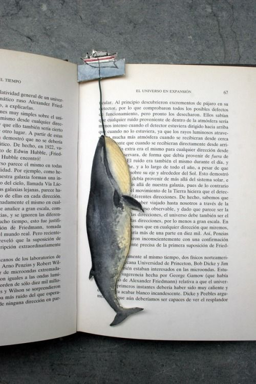 Humpback whale bookmark. That's all.