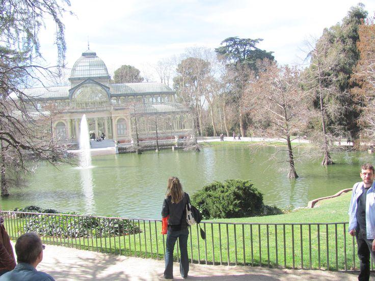 Madrid- Palazzo di cristallo nel Parco del Ritiro