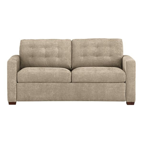 An addition to the floral print loveseat. This sofabed is from Crate and Barrel.