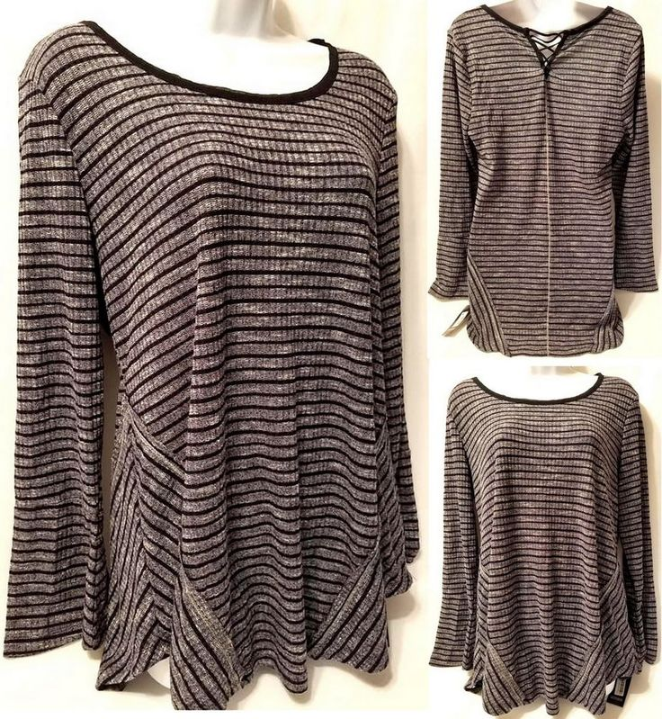 Style & Co Shimmery AV Navy Stripe Tops (Medium) New with Tags #Styleco #Blouse