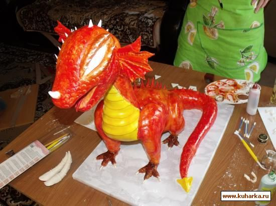 Dragon cake tutorial