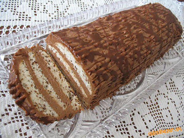 Bielkovo-čokoládový chlebíček