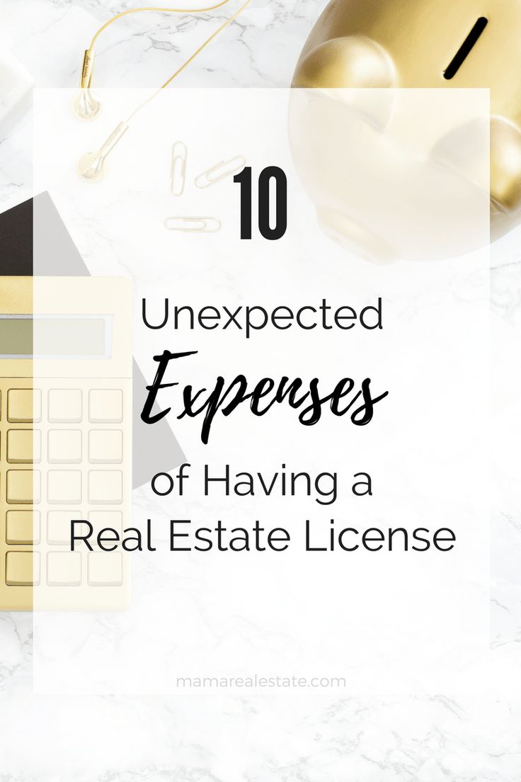What you don't know WILL hurt you and your pockets. Prepare for these expenses when you start your real estate career so you won't be blindsided.