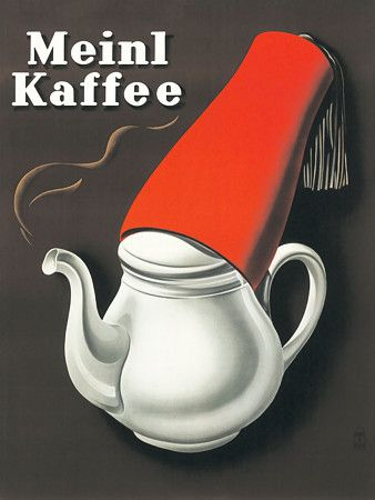 Vintage Coffee Poster Ad 'Meinl Kaffee'