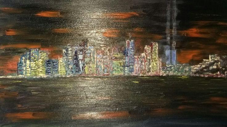 Rob Moran oil cityscape