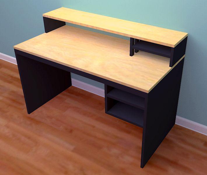 Free Desk Plans To Build Building Wooden Computer Desk