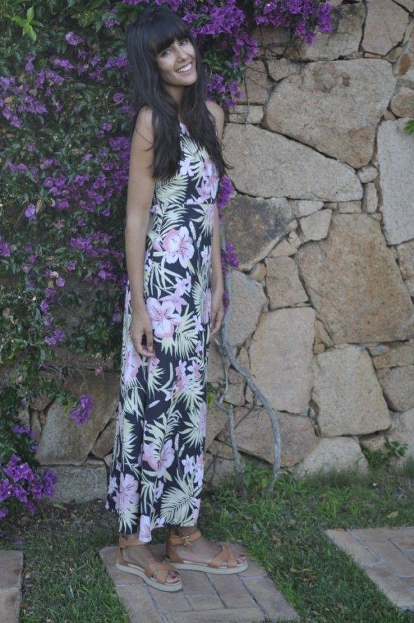 Ana Albadalejo Blog » Porto Cervo Vestido largo tropical