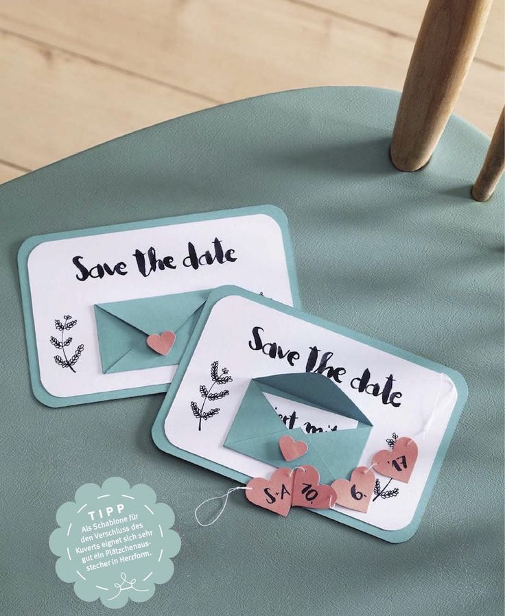 Diy Idee Save The Date Karten