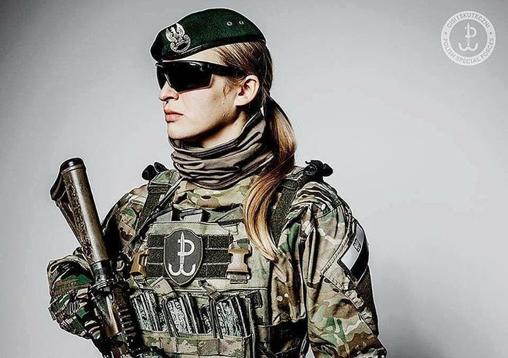 """Polish JWK Land Special Forces female operator 