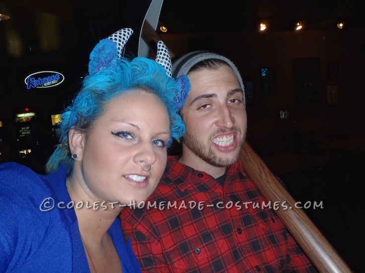 Coolest Homemade Couple Costume Idea: Paul Bunyan and Babe the Blue Ox… Enter Coolest Halloween Costume Contest at http://ideas.coolest-homemade-costumes.com/submit/