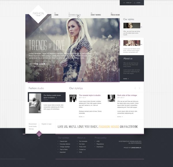 nice webdesign / Lukasz Sokol: Webdesign,  Internet Site, Web Design, Fashion Houses, Design Ideas, Web Site, Fashion Website, Website Design, Design Website