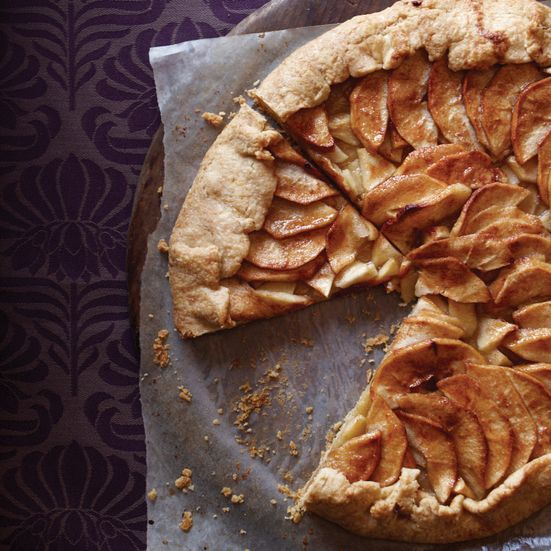 Jacques Pépin loves to serve this delicate apple tart as a buffet dessert, since it's beautiful, easy to slice and simple to eat, pizza-style, while ...