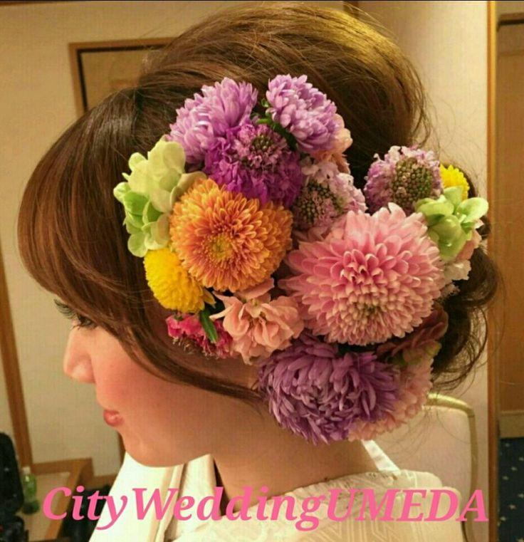 成人式の髪飾りオーダーについてと髪型まとめ の画像|City Wedding UMEDA 【京都神戸全国】 ブライダルヘアメイク出張☆メイクレッスン blog