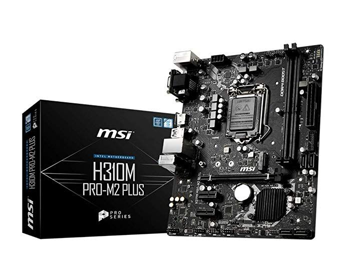 Msi Proseries Intel Coffee Lake H310 Lga 1151 Ddr4 D Sub Dvi Hdmi Onboard Graphics Micro Atx Motherboard H310m Pro M2 Plus Computers In 2020 Motherboard Msi Ddr4