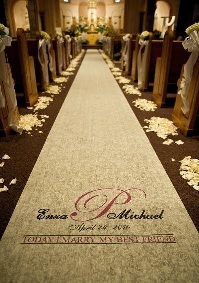 Hochzeit Aisle Runner - personalisiert - Elfenbein