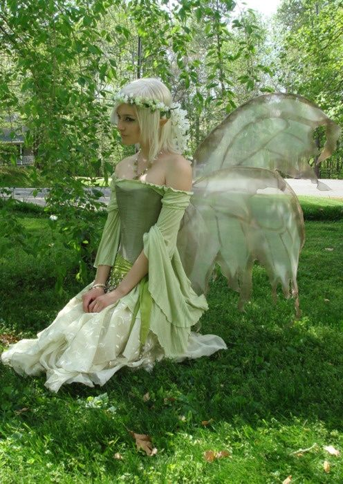 Sleeves Fairy Costume #costumes, #fashion, #fairies, https://facebook.com/apps/application.php?id=106186096099420                                                                                                                                                                                 More