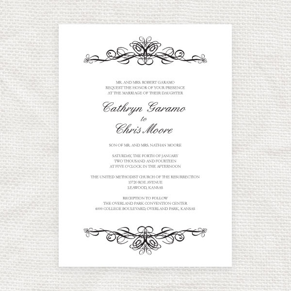 68 best wedding stationery images on pinterest wedding i do it yourself classic scroll wedding invitation solutioingenieria Gallery