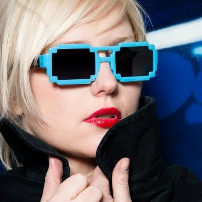 Pixel inspired glasses