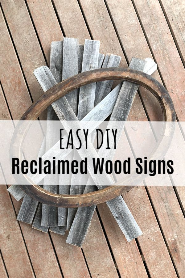 How To Make Reclaimed Wood Signs From Scraps Wood Signs