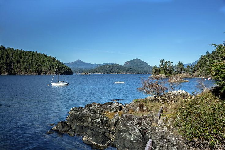 North America Photograph - Bays And Islands Of The Northern Sea by Alex Lyubar    #AlexLyubarFineArtPhotography #VancouverCanada #BowenIsland  #SeaScape #ArtForHome #FineArtPrint