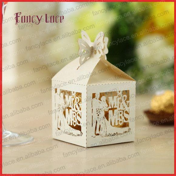 100PCS, Горячая Продажа лазерной резки коробка конфет настроены для украшения свадебной вечеринки