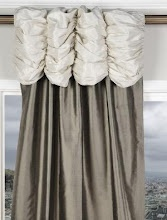 Simple to do....scrunch tube of fabric over curtain loop and down onto curtain.  Huge impact