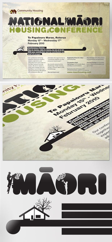 Maori graphic design by Johnson Witehira - this was for National Maori Housing hui