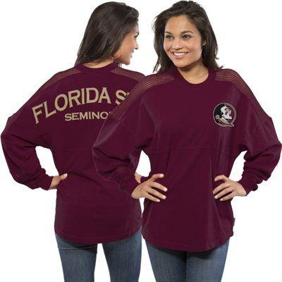 Women's Florida State Seminoles Sport Mesh Spirit Jersey - Garnet
