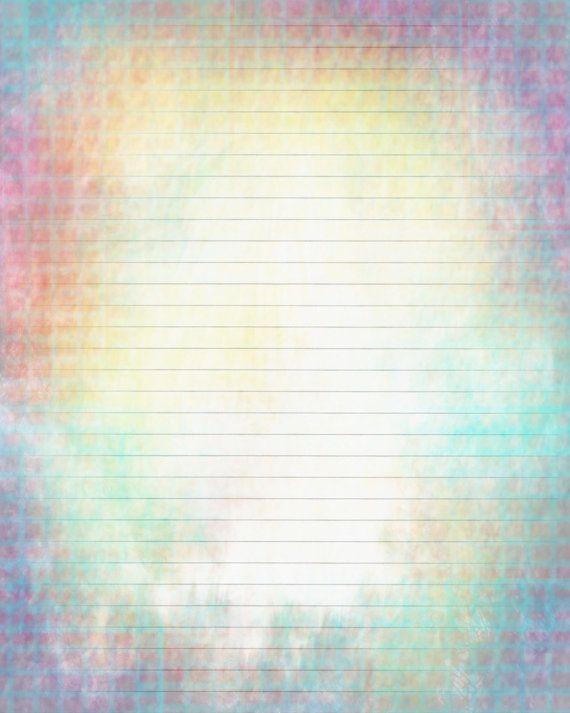 Printable Journal Page Boho Rainbow Lined Stationery 8 X