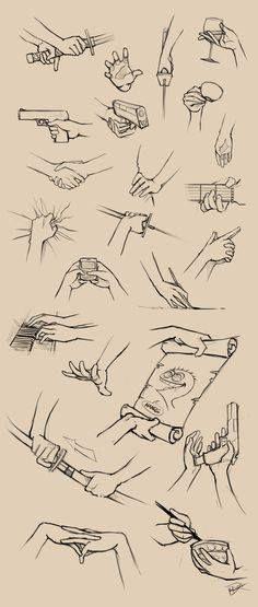 Este Pin muestra las Diferentes referencias de una mano agarrando cualquier objeto