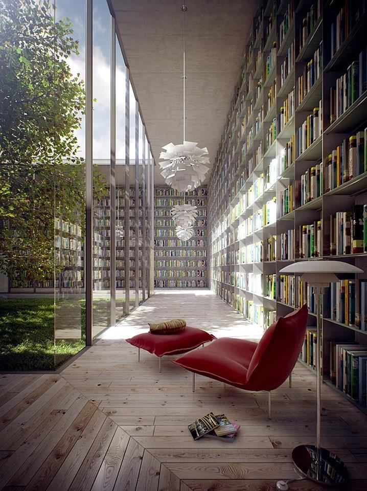 Wouldn't mind such a place for an inspiring read...