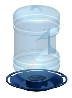 780  Water Cooler Bird Waterer  Attract more birds with water!   •Holds 1.5 qt (1.4 L) of water   •Eye catching blue tint water bottle and navy base   •Ergonomic handle allows easy filling and carrying