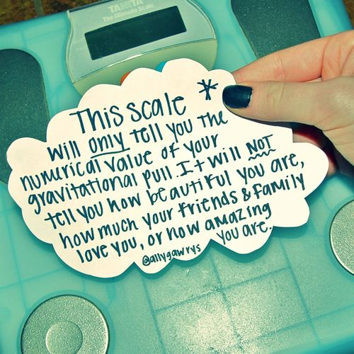 The scale will ONLY tell you the numerical value of your gravitational pull.  It will NOT tell you how beautiful you are, how much your friends and family love you, or how amazing you are!