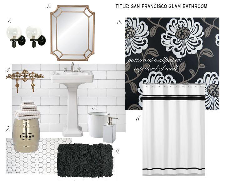Design Board Mood Board Bathroom Design Glam Bathroom Interior Concept Pinterest